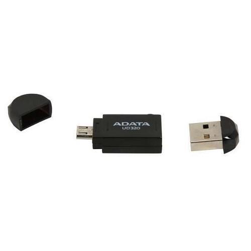 ADATA USB 2.0 OTG Flash Drive 32GB [AUD320-32GB] - Black - Usb Flash Disk Dual Drive / Otg
